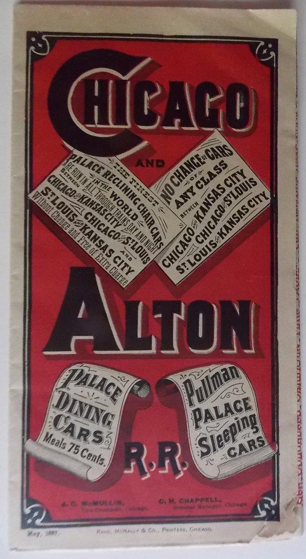 Chicago & Alton Railroad 1887 Timetable - 2