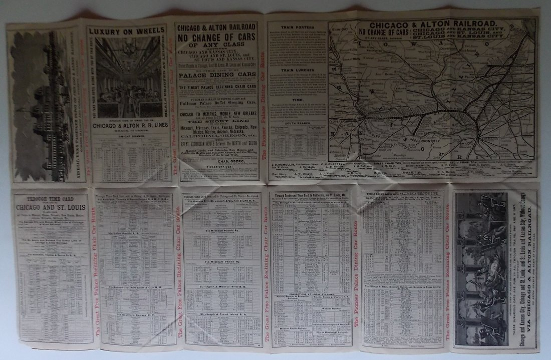 Chicago & Alton Railroad 1887 Timetable - 3