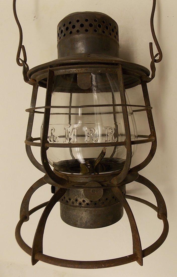 Boston & Maine Railroad Armspear Lantern nice EB Globe