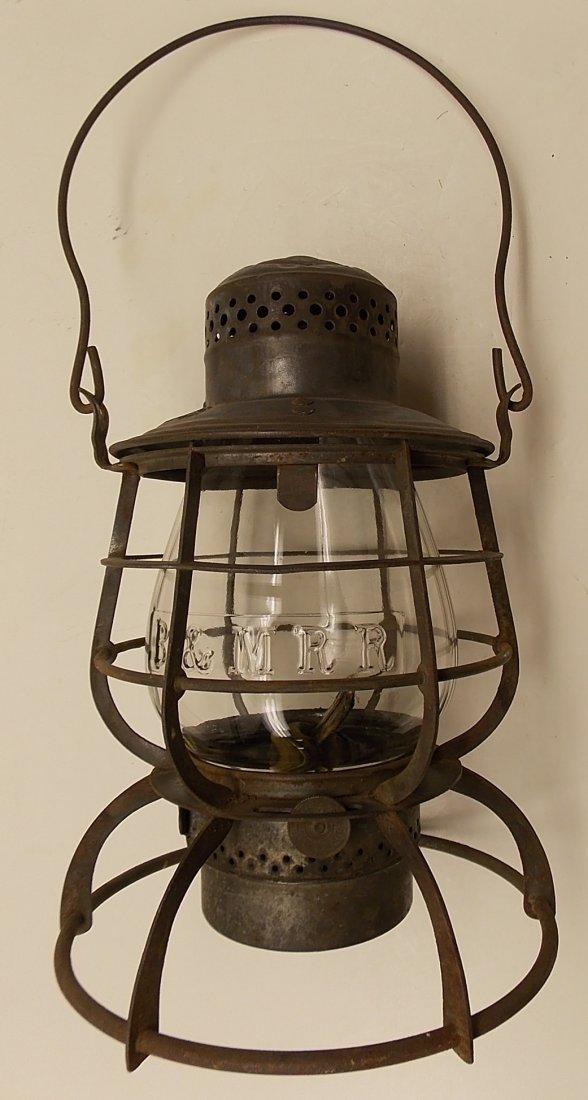 Boston & Maine Railroad Armspear Lantern nice EB Globe - 2