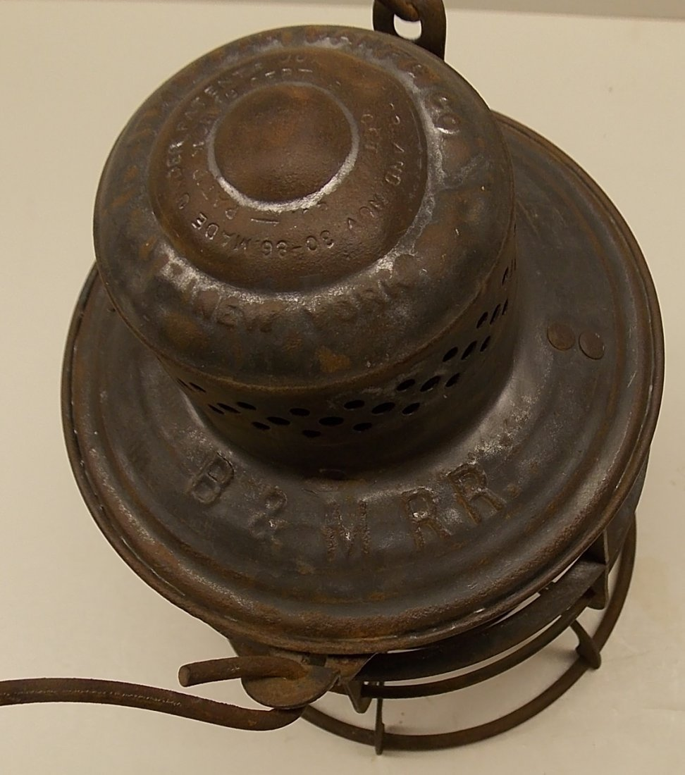 Boston & Maine Railroad Armspear Lantern nice EB Globe - 3
