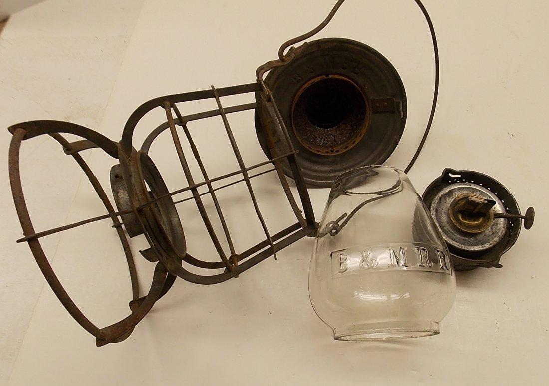 Boston & Maine Railroad Armspear Lantern nice EB Globe - 5