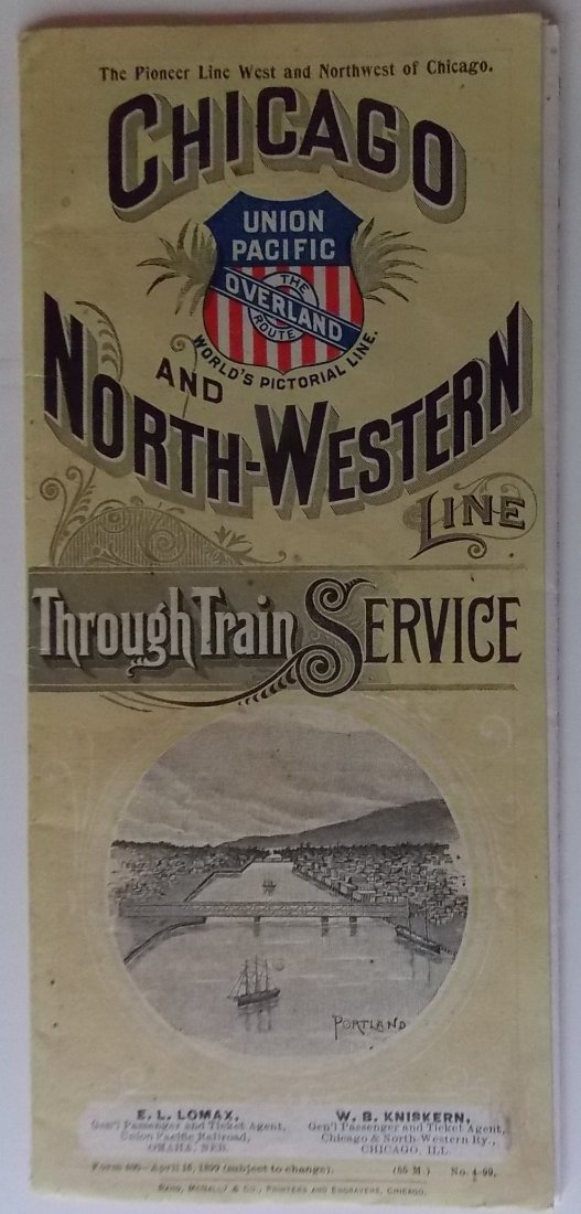Chicago & North Western Railroad 1899 Timetable