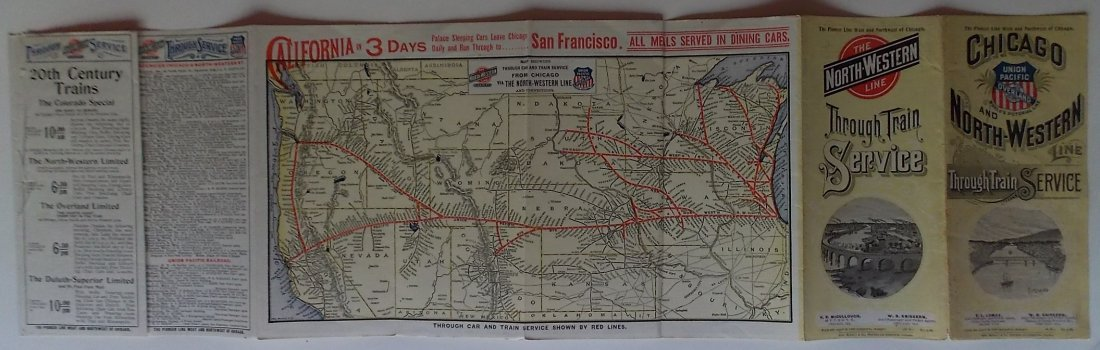 Chicago & North Western Railroad 1899 Timetable - 2