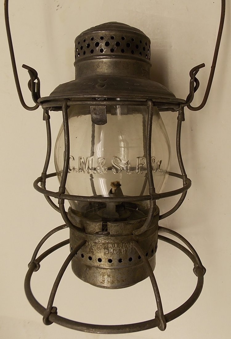 Milwaukee Road Lantern with SP 10840 on the Lid