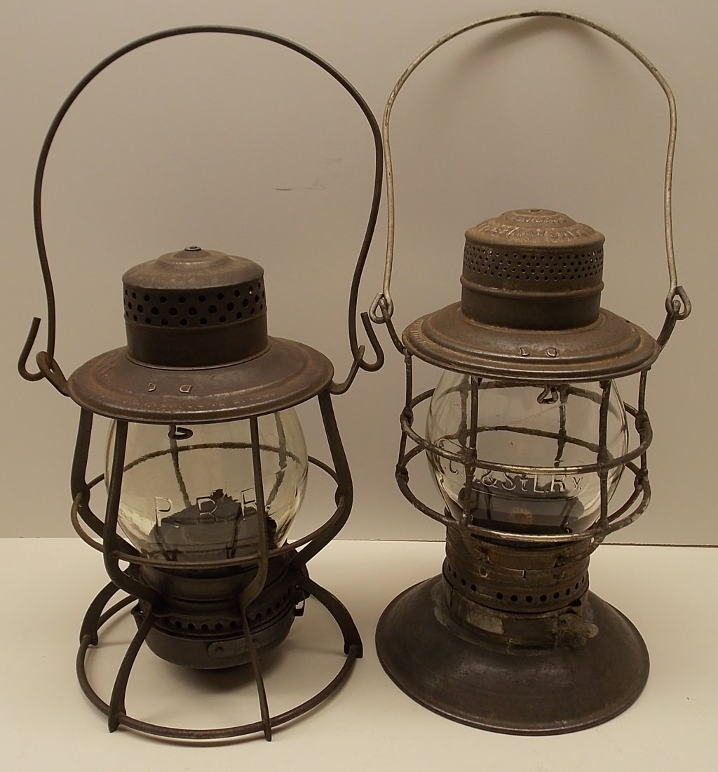 2 Pennsylvania Railroad related Lanterns