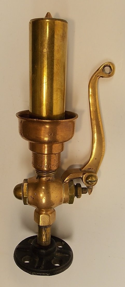 "Gray Hawley Brass Whistle Midget 1"""