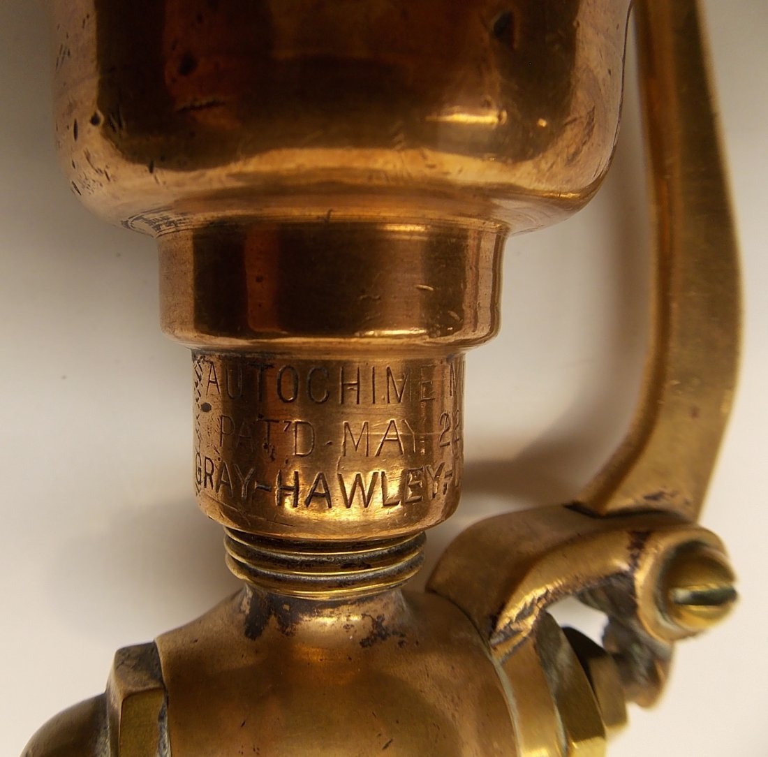 "Gray Hawley Brass Whistle Midget 1"" - 3"