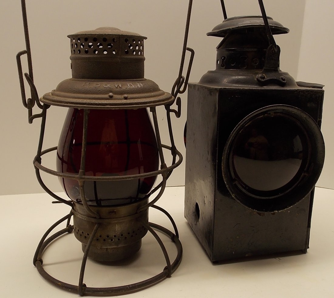 2 Railway Lanterns/Lamps PB&W, Gate