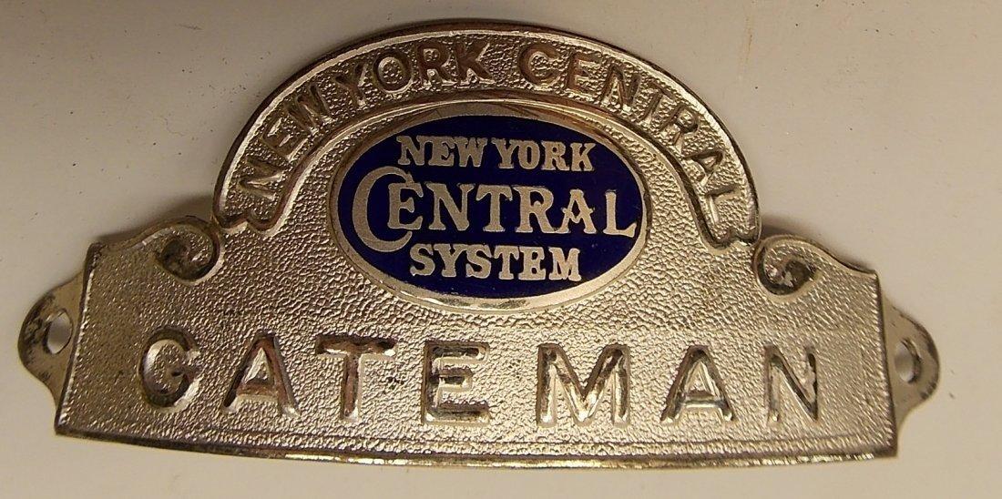 New York Central GATEMAN Hat Badge