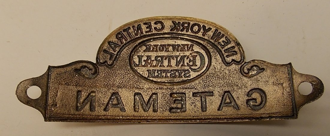 New York Central GATEMAN Hat Badge - 2