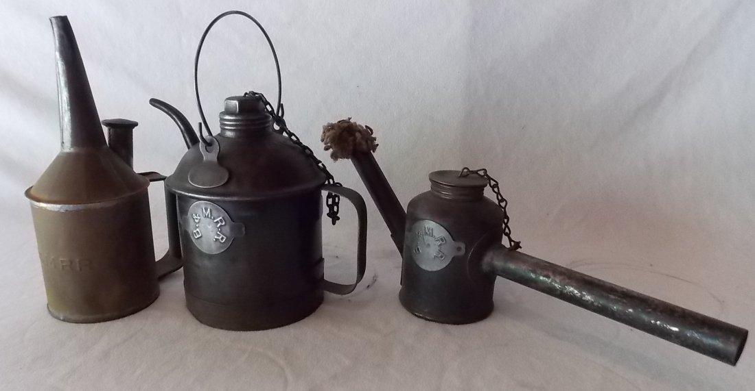 Boston & Maine Railroad Tinware (3)