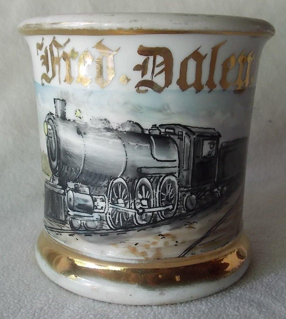 5 Railroad Occupational Shaving Mugs - 2