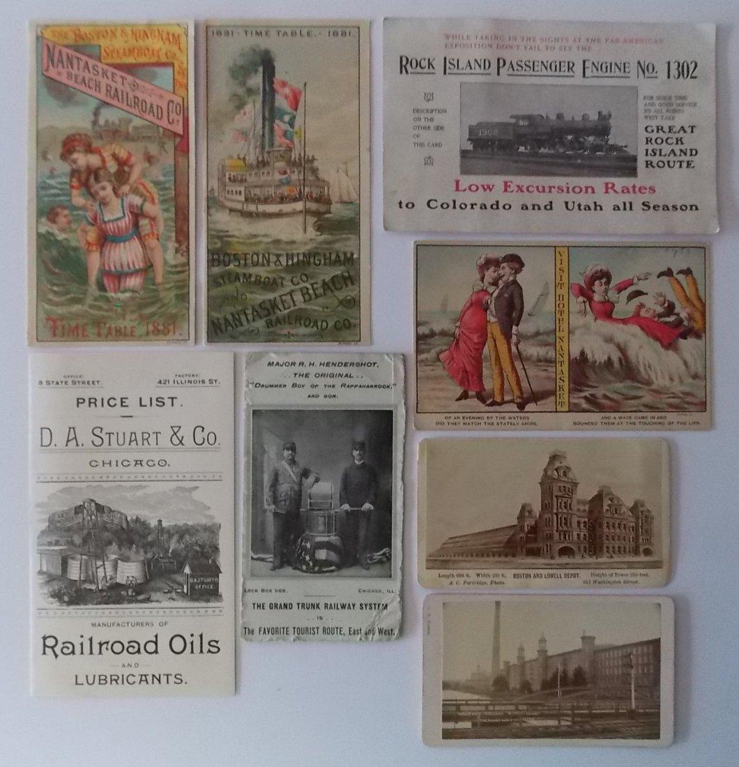 Railroad Steamship Advertising Ephemera