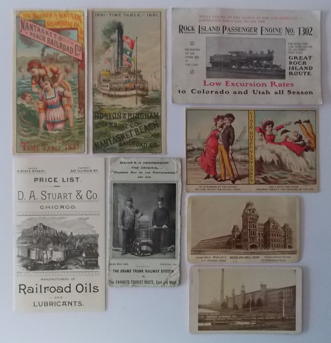 Railroad Steamship Advertising Ephemera