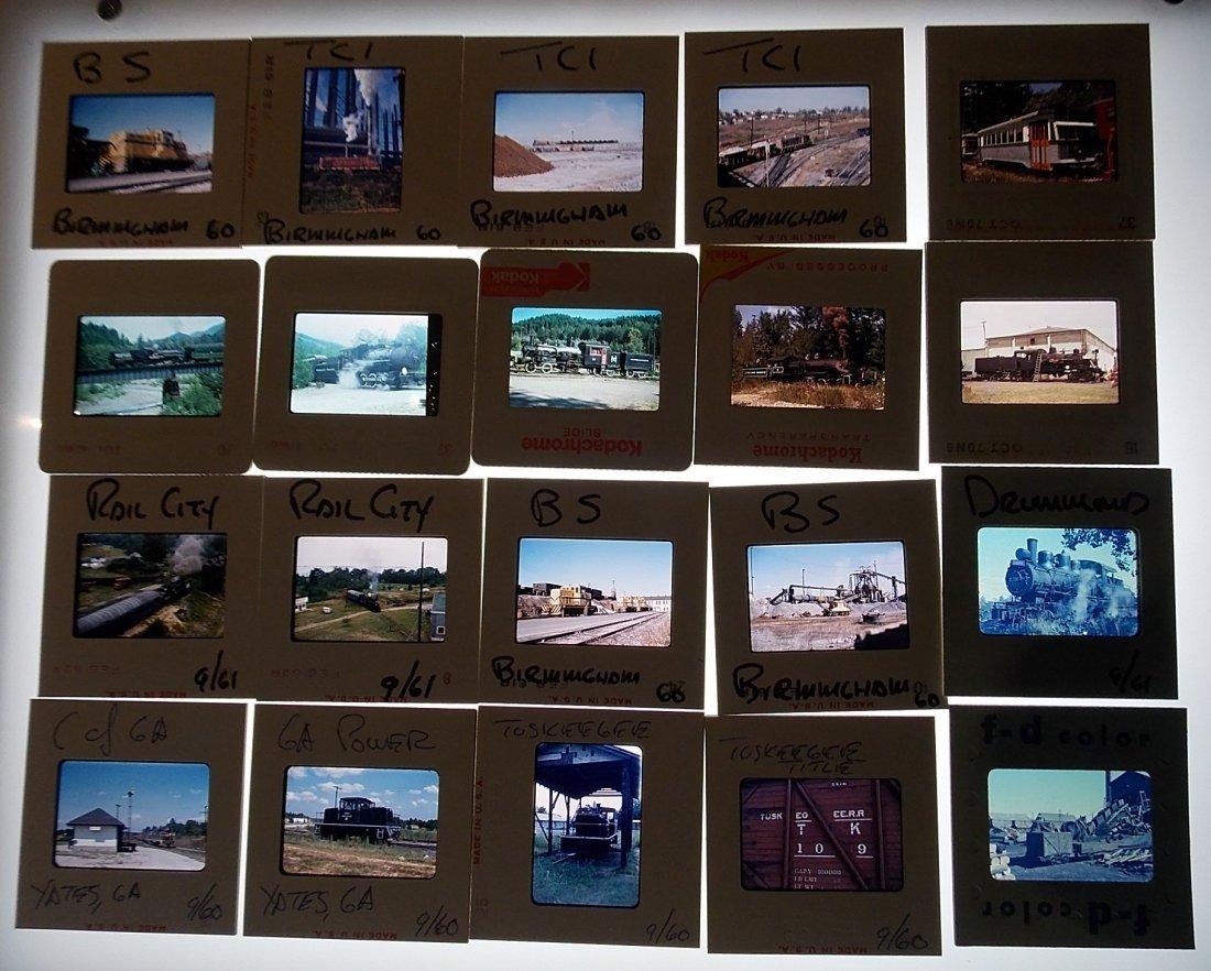 Railfan Train Slides 1960-1982 130+ - 3