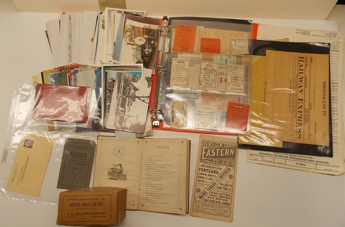 Paper Tray lot - 1880s Timetable, Rules etc.