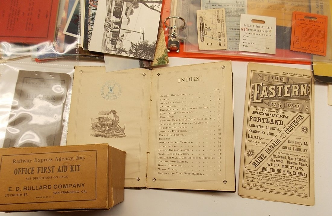 Paper Tray lot - 1880s Timetable, Rules etc. - 2