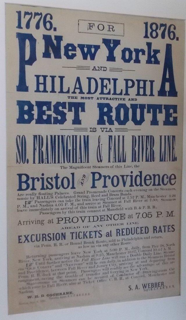 1876 BCF&NB Broadside for Philadelphia