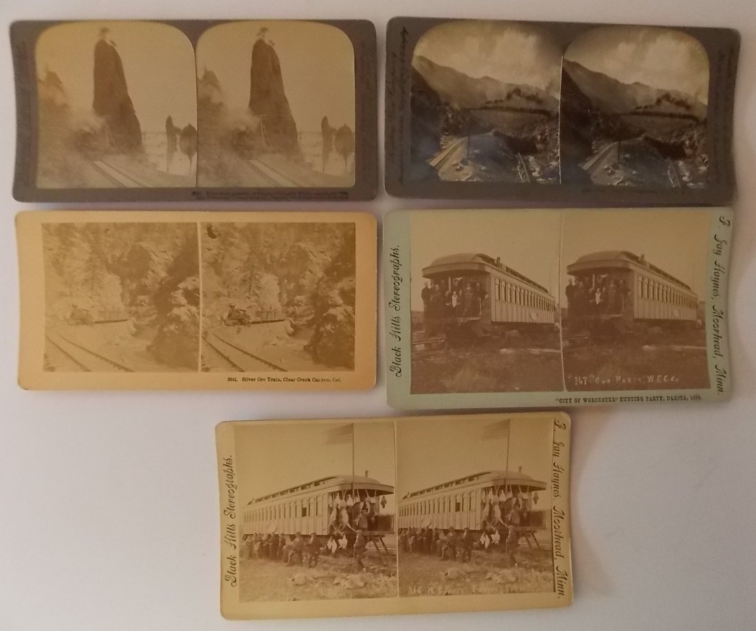 Western Stereoview Cards (5)