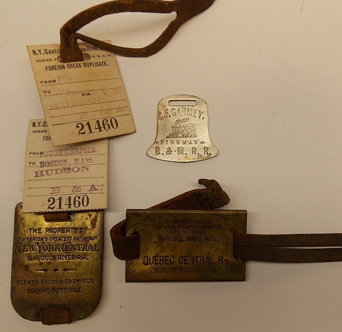 2 Baggage Tags & Boston & Maine Fob