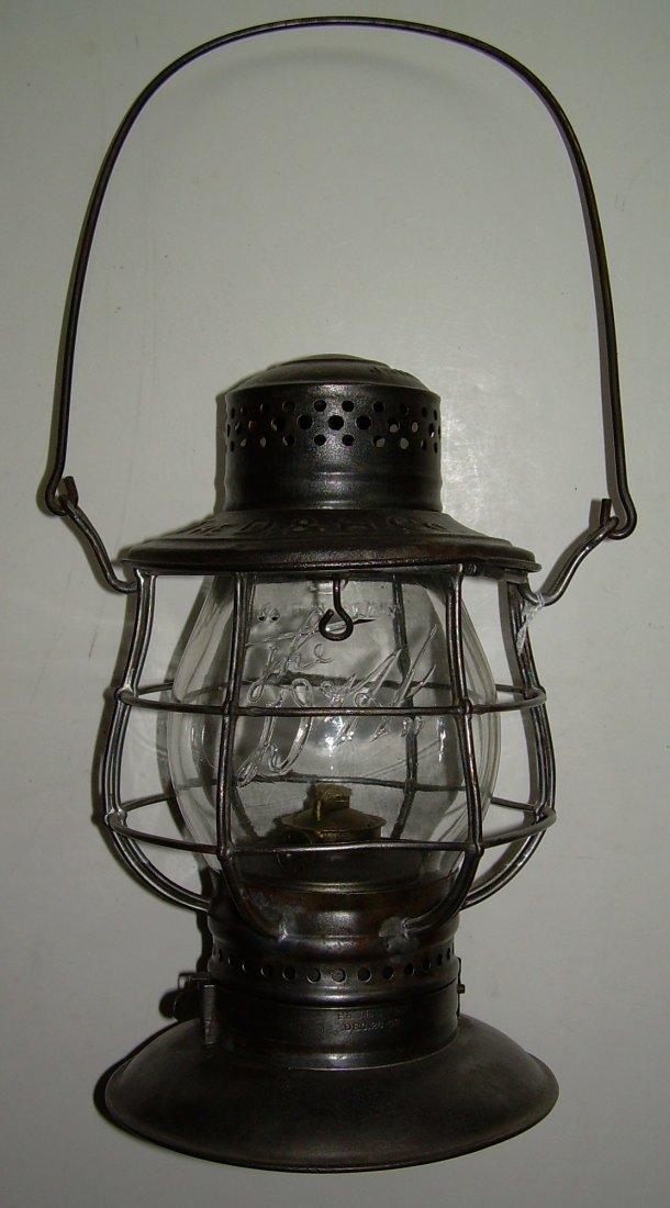 Delaware & Hudson Bellbottom Lantern Logo Globe - 2