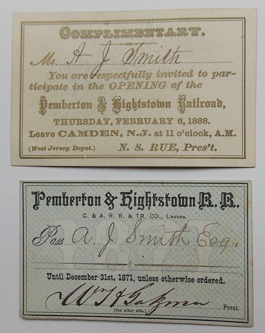 Pemberton & Hightstown Inaugural Invitation + Pass