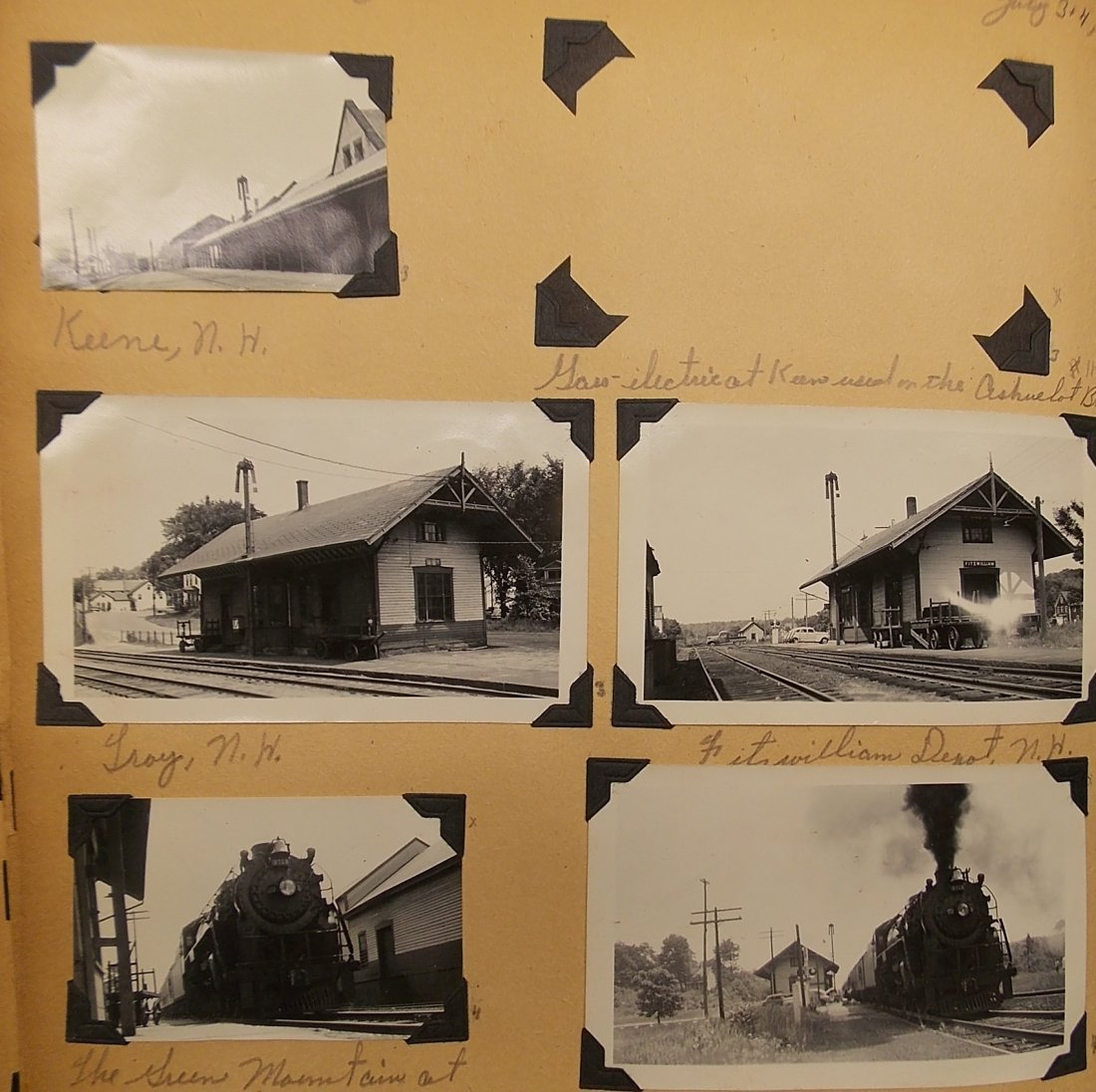 Old Boston & Maine Photo Scrapbook (450+) - 2