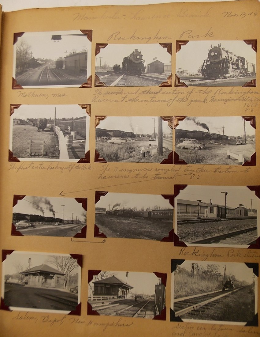 Old Boston & Maine Photo Scrapbook (450+) - 3