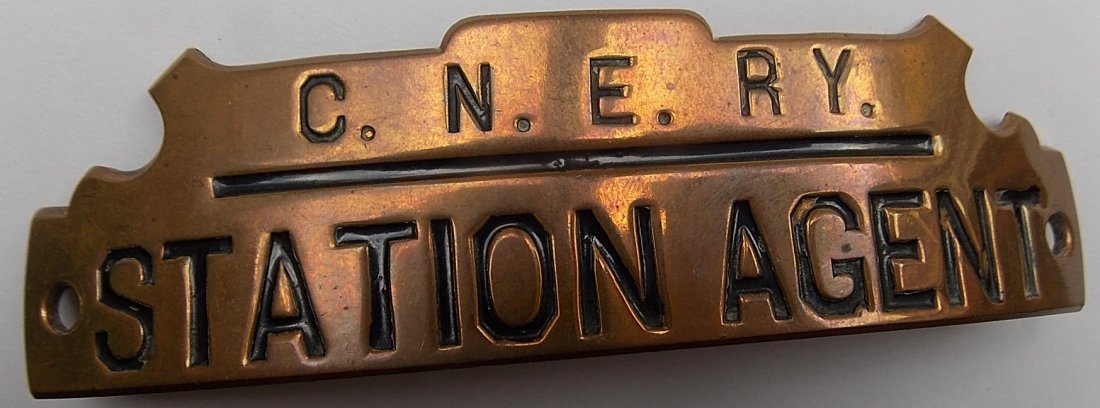 Central New England Station Agent Hat Badge