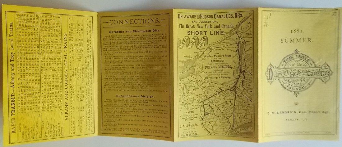 5 Delaware & Hudson Timetables 1881-1898 - 3