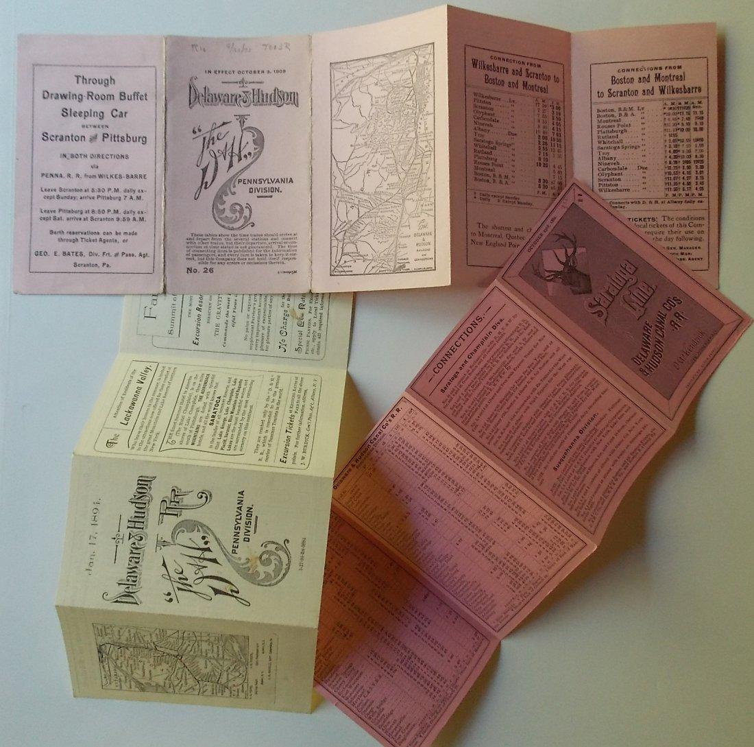 5 Delaware & Hudson Timetables 1881-1898 - 4