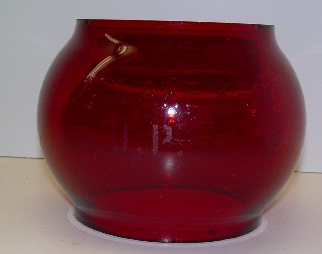 Union Pacific Railroad Lantern Red Etched Globe - 4
