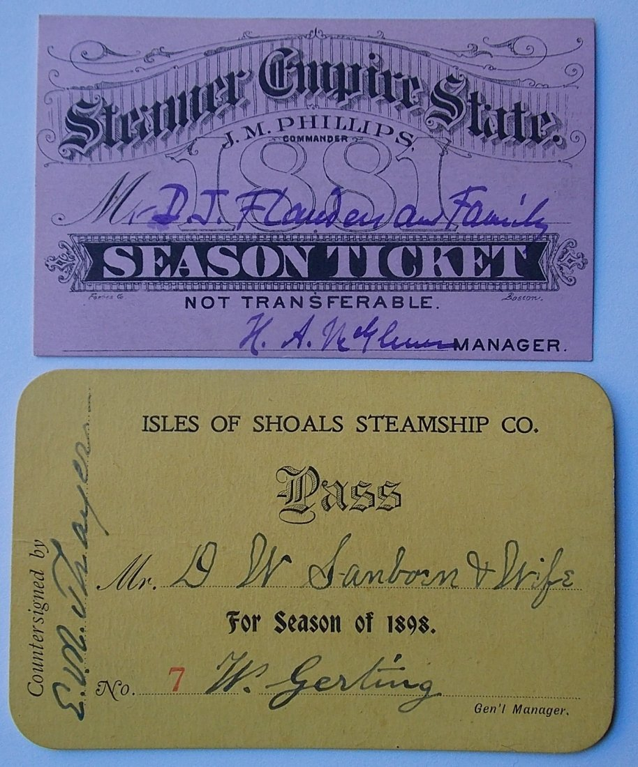 Steamboat Annual Passes (2) Isle of Shoals