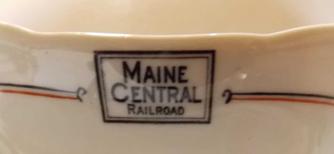 "Maine Central ""Bangor"" Pattern China Dish - 2"