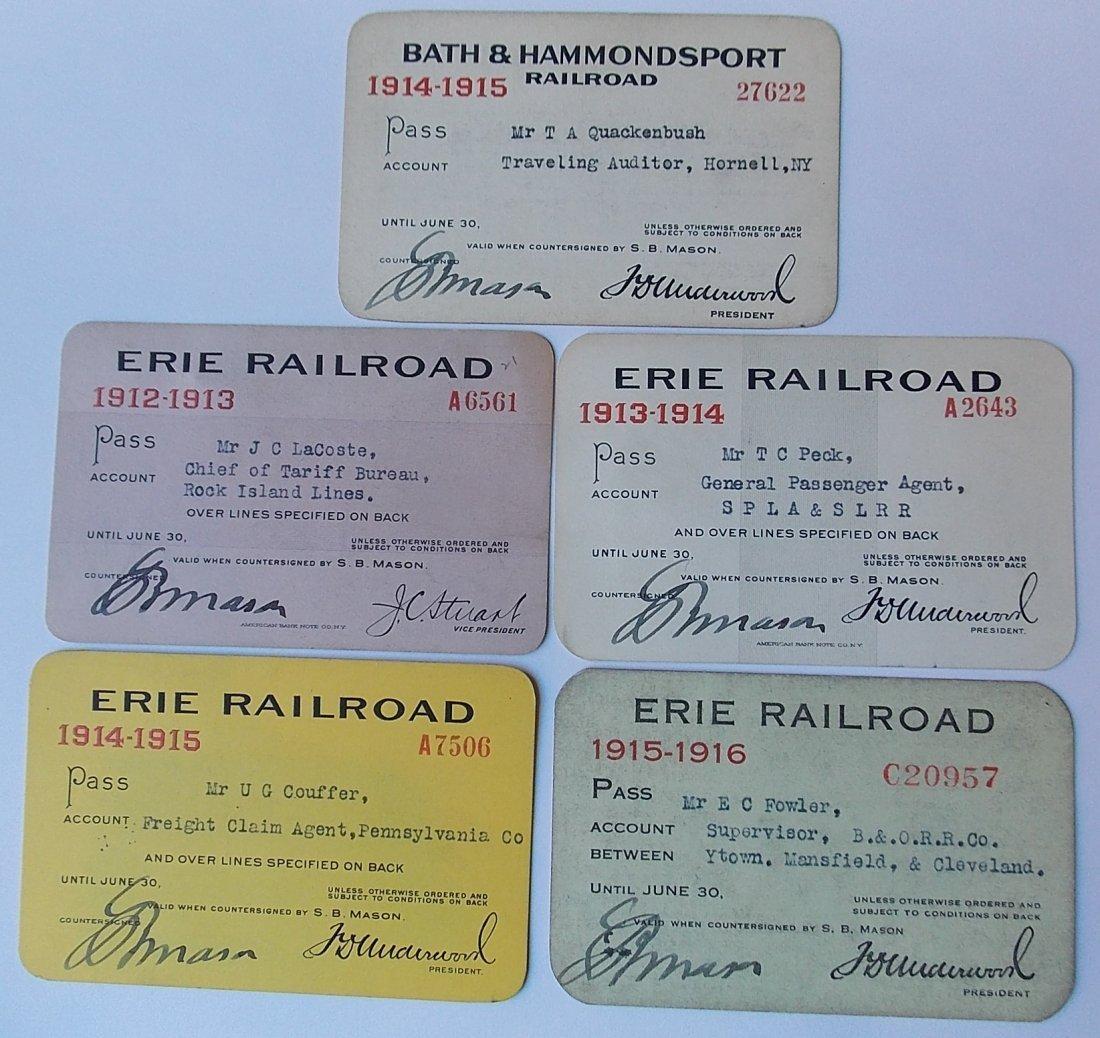 B&H / Erie Railroad Passes (5)