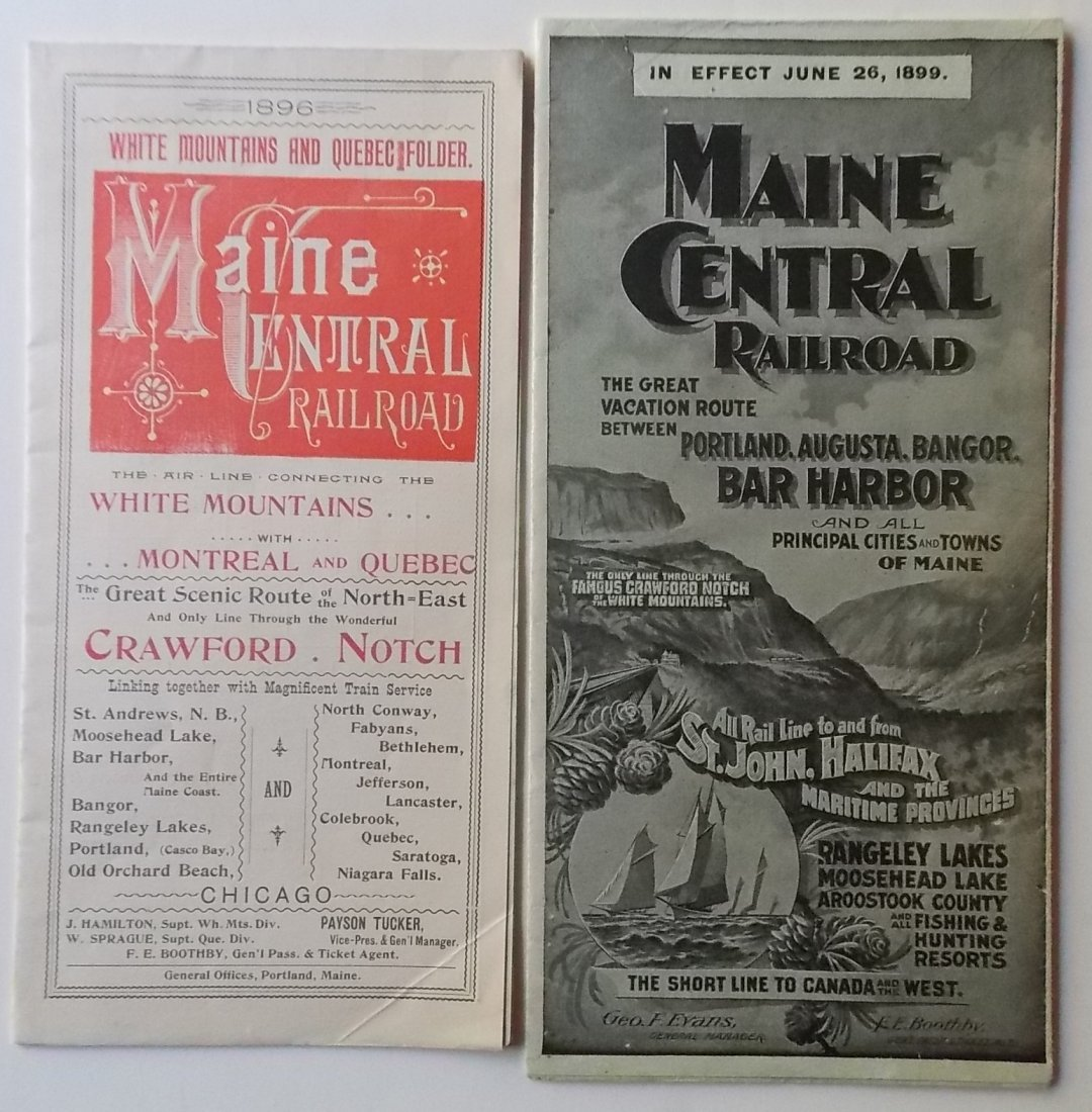 Maine Central Tourist Timetables 1896 1899