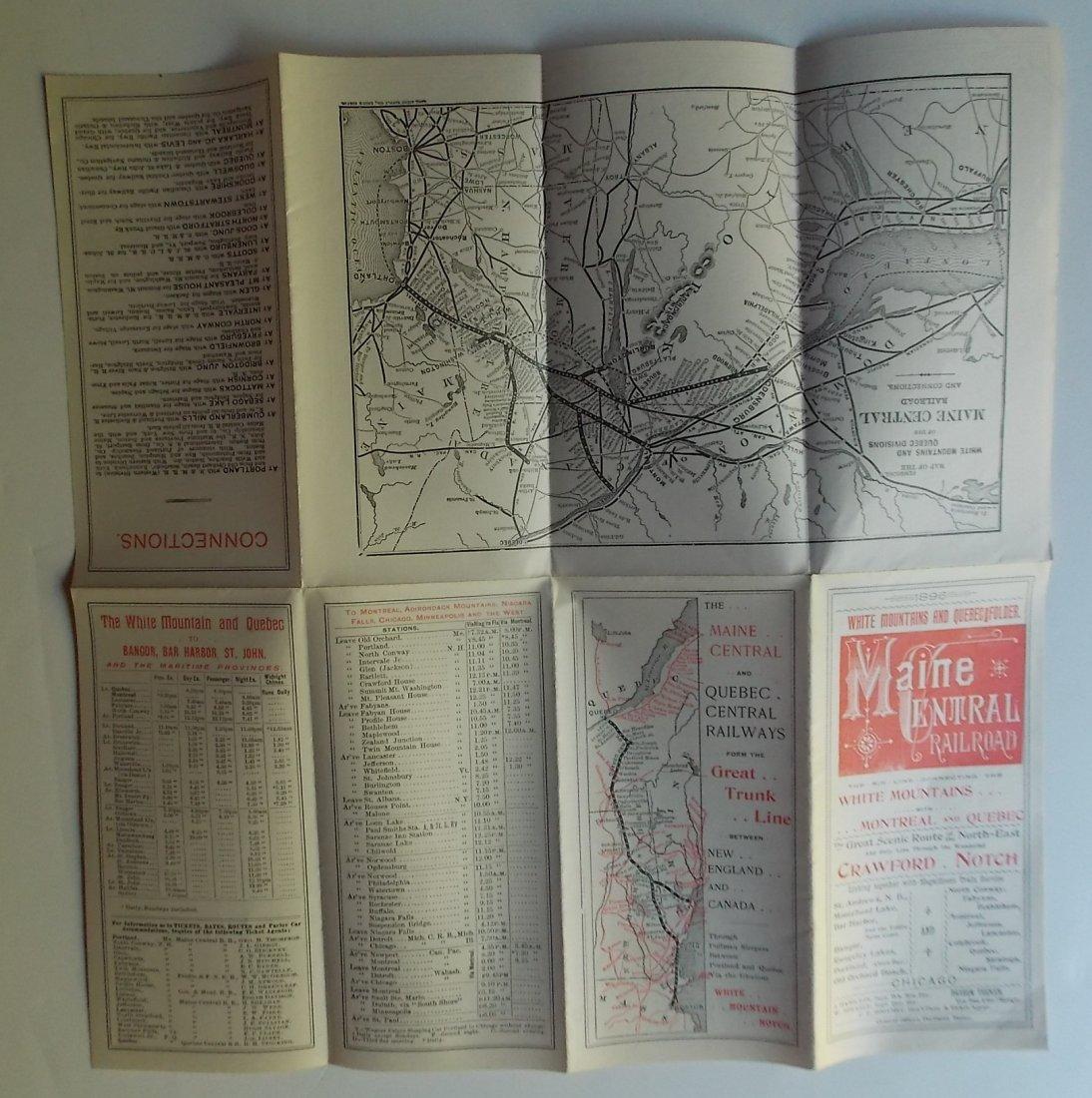 Maine Central Tourist Timetables 1896 1899 - 2