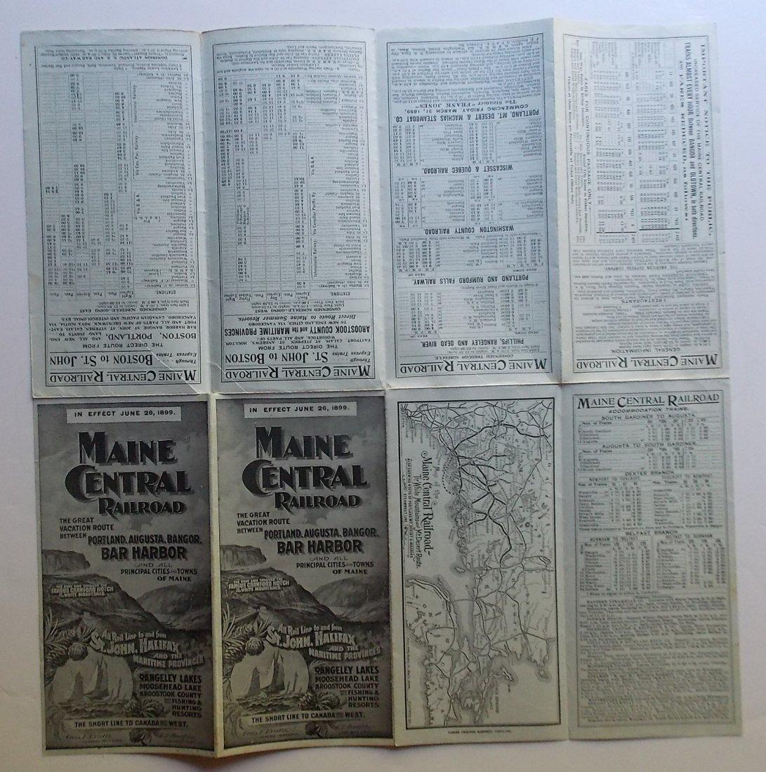Maine Central Tourist Timetables 1896 1899 - 3