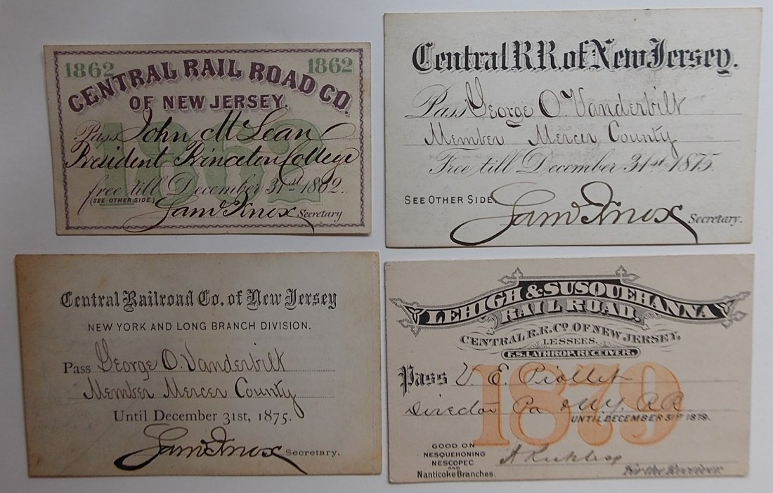 New Jersey Railroad Annual Passes
