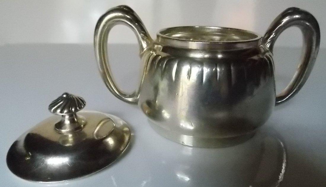 New York & Boston Express Line Silver Sugar Bowl - 2