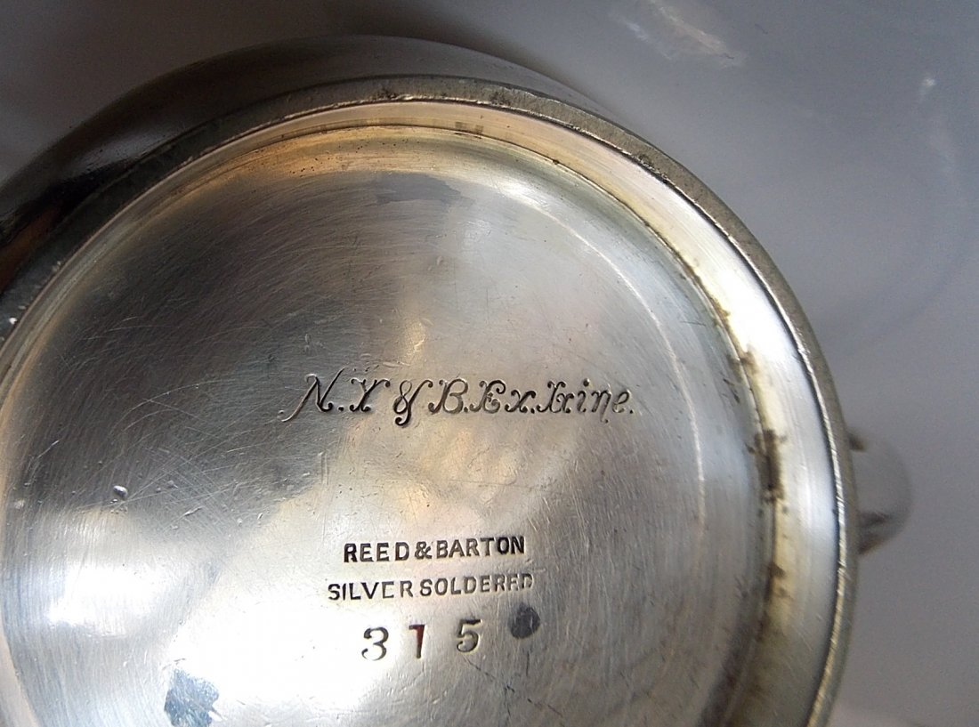 New York & Boston Express Line Silver Sugar Bowl - 3