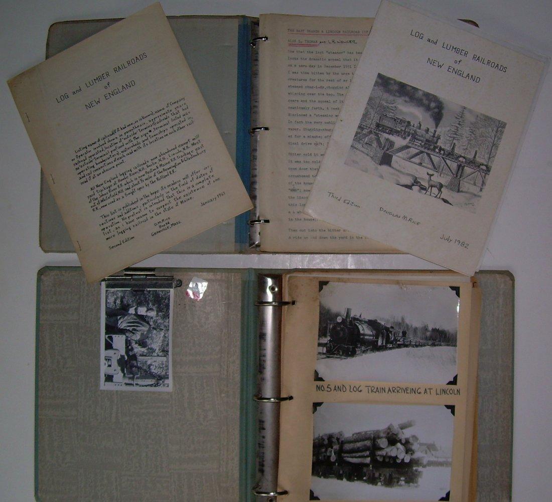 White Mountain Logging Railroads Scrap Book