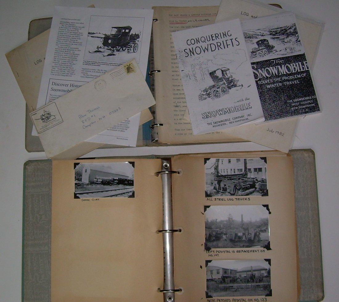 White Mountain Logging Railroads Scrap Book - 2