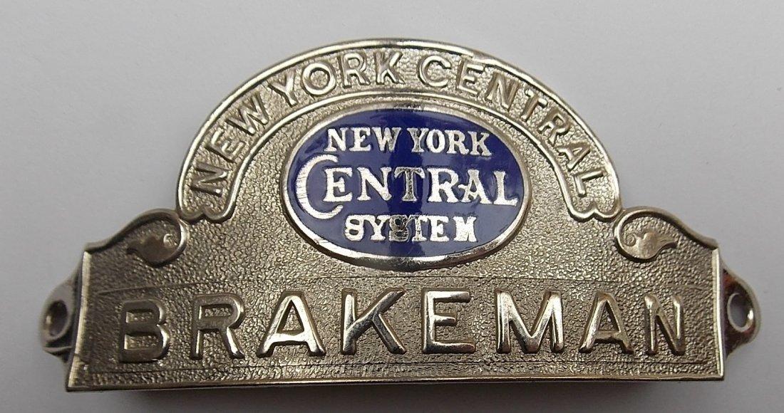 New York Central System Brakeman Hat Badge