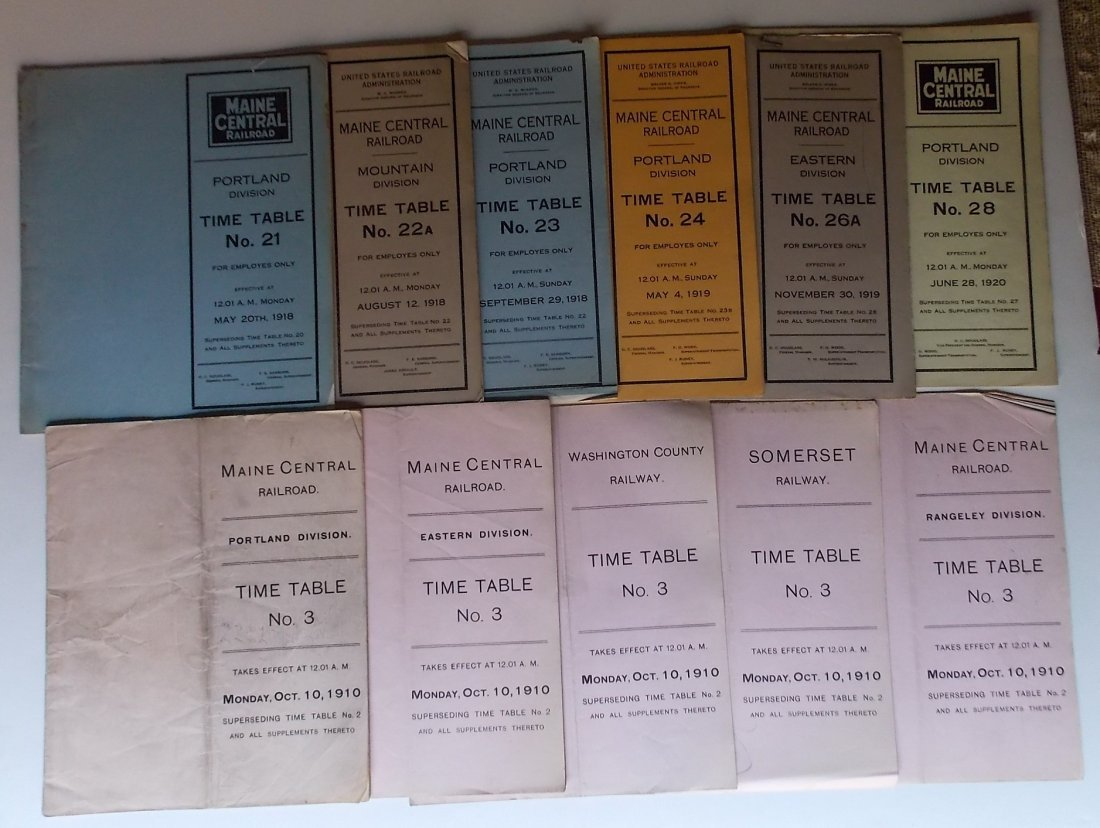 Maine Central Railroad Employee Timetables (11)