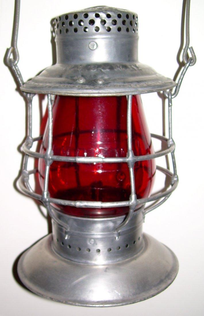 "NYO&W Bellbottom Lantern Red Cast 6"""
