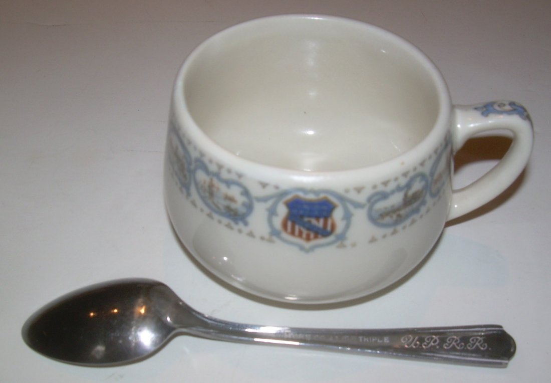 Union Pacific Historical China Demi Cup & Spoon