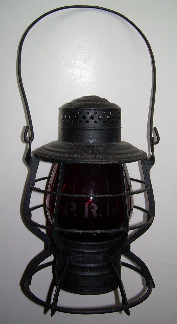 Pennsylvania Railroad Lantern MacBeth Etched 220 Globe - 2