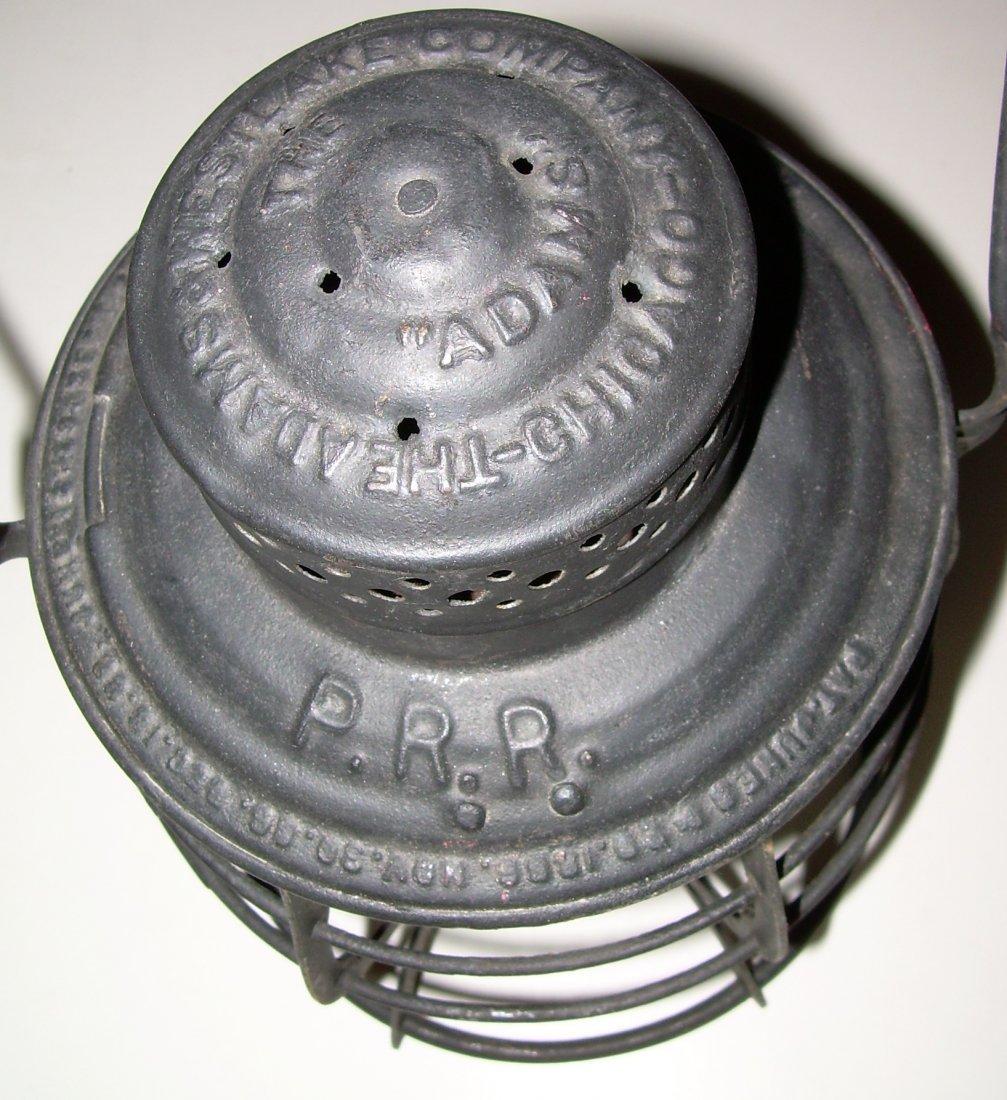 Pennsylvania Railroad Lantern MacBeth Etched 220 Globe - 3